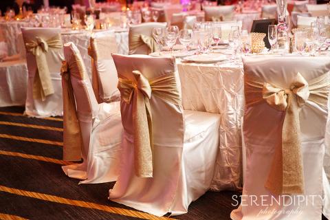Royal Sonesta Houston Galleria Wedding Reception Purple Decor