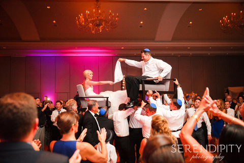 Jewish Wedding Photography Reception Royal Sonesta Houston Galleria Purple