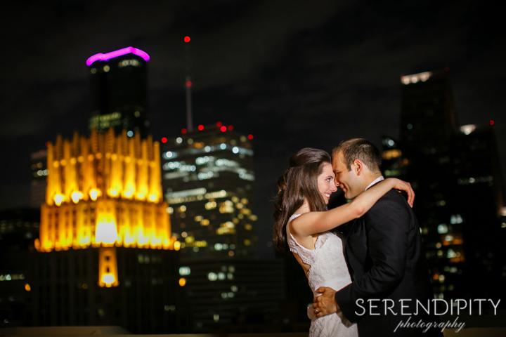 bride and groom portrait, downtown houston wedding, Serendipity Photography, magnolia hotel wedding