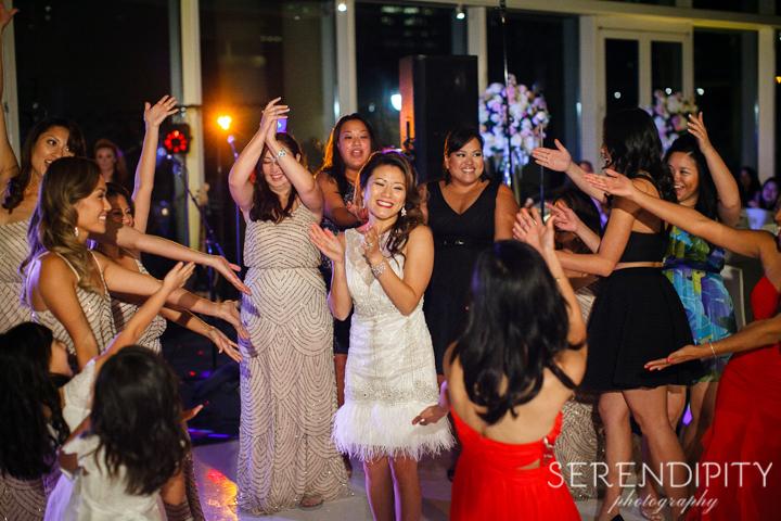 Wedding reception at the Hobby Center Houston