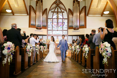 Notre Dame Catholic Church Wedding Ceremony