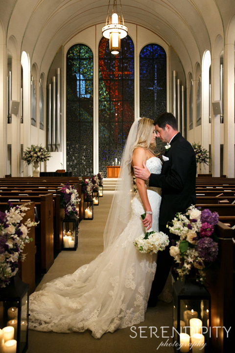 south main baptist church houston, bride and groom portrait, houston wedding photographers