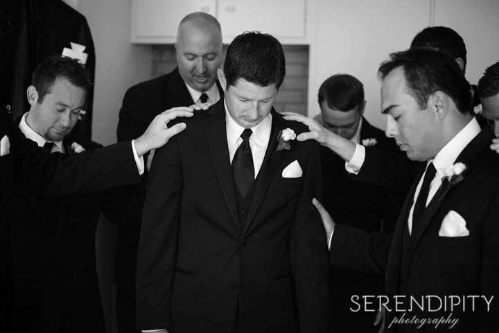 prayer over the groom, christian wedding, south main baptist church wedding.jpg-03