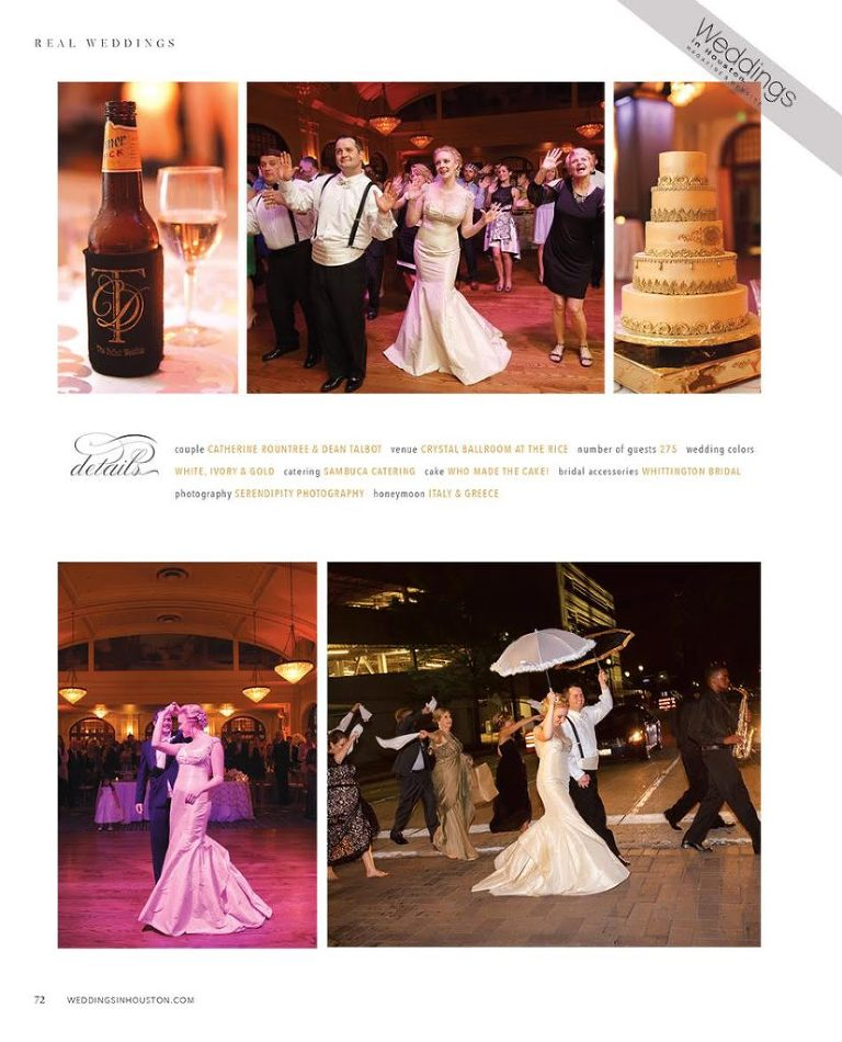 Crystal Ballroom Houston, Featured Houston Wedding, Weddings in Houston, Catherine and Dean,